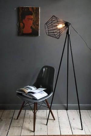 industrial style modern floor lamp