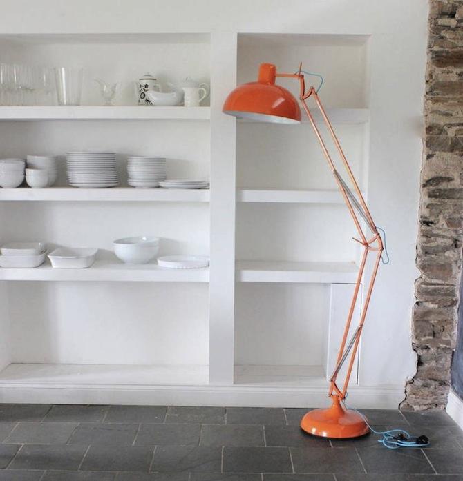 mid-century modern floor lamp