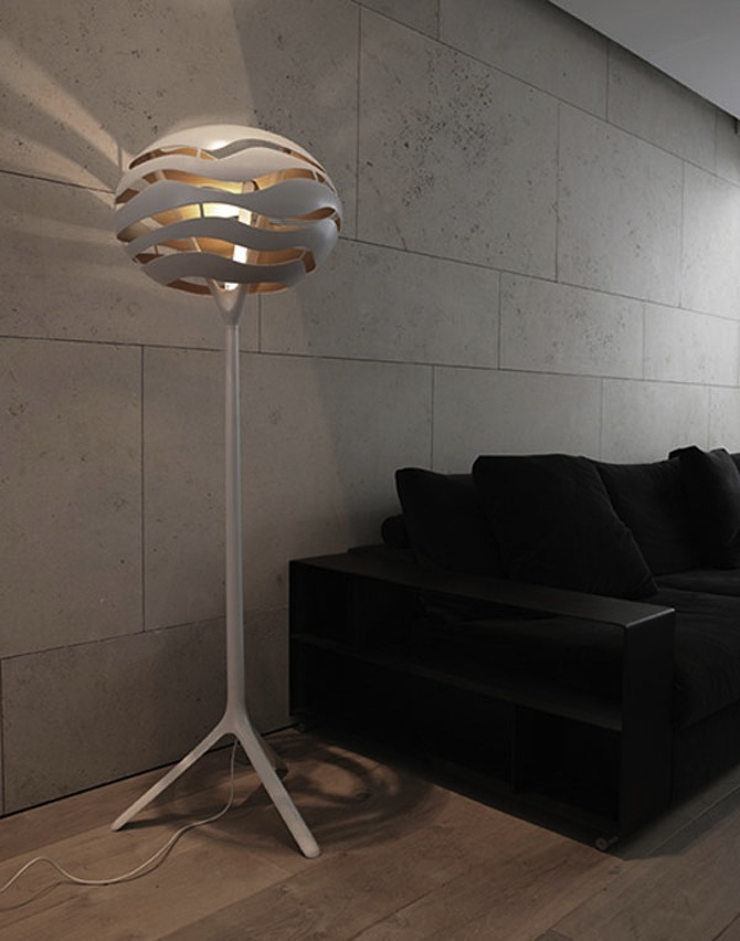 Modern and trendy floor lamps for living rooms modern for Living lighting floor lamps