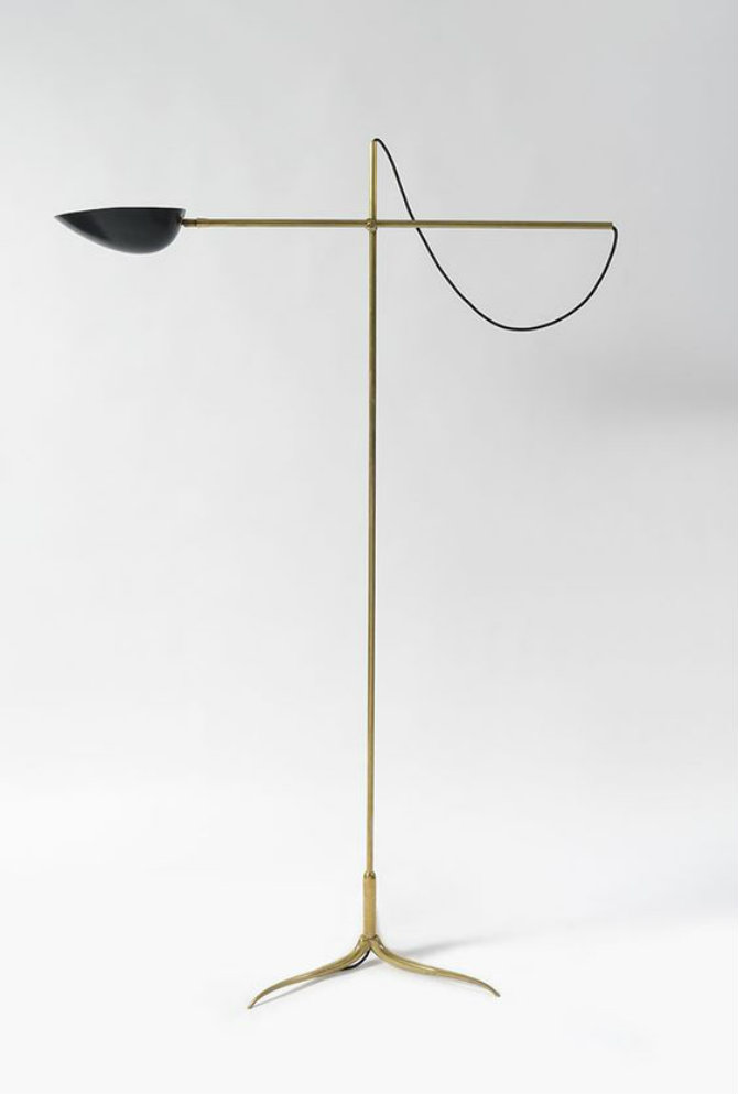 10 Golden modern standing lamps Cesare Lacca Attributed; Brass and Enameled Metal Floor lamp, c1950 floor lamps 10 Golden modern floor lamps 10 Golden modern floor lamps Cesare Lacca Attributed Brass and Enameled Metal Floor lamp c1950