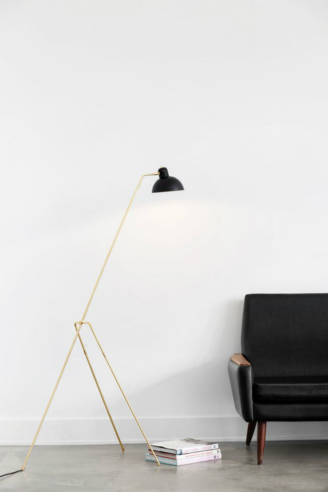 10 Golden modern floor lamps Lambert et Fils, GRUE FLOOR tripod floor lamps 10 tripod floor lamps to your home designs 10 Golden modern floor lamps Lambert et Fils GRUE FLOOR