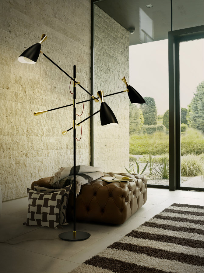10 MODERN BLACK FLOOR LAMPS delightfull duke