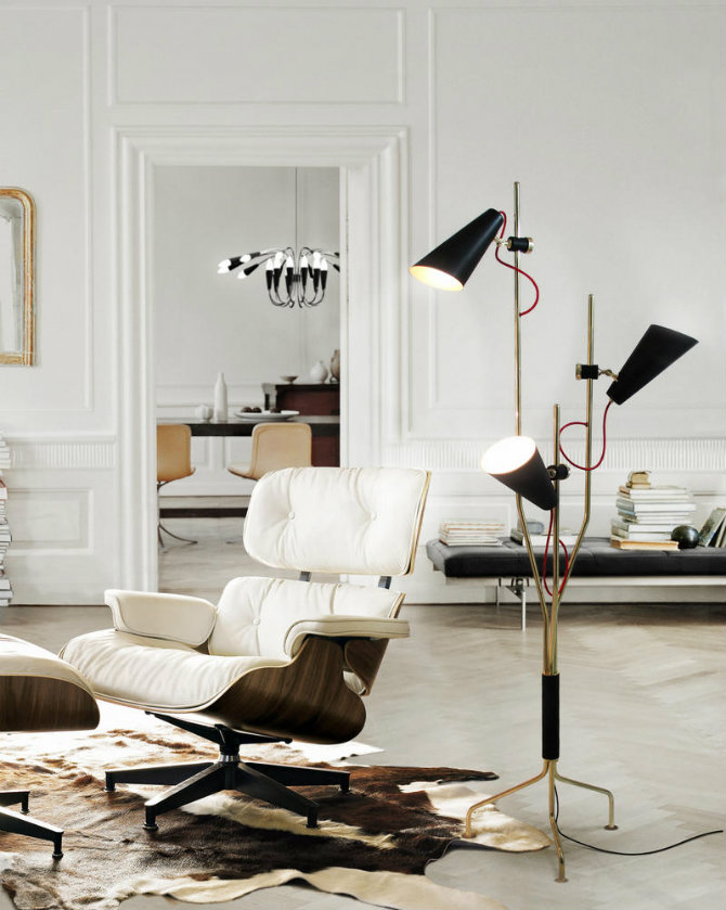 Learn how to use modern floor lamps in a mid-century home 5
