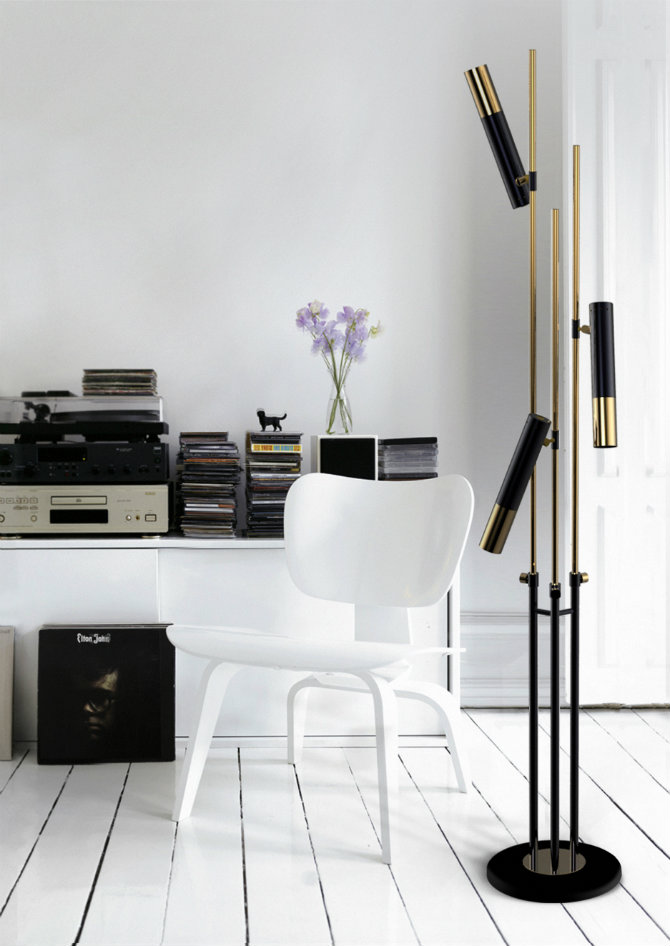 Modern home inspirations metal floor lamps for Floor lamps for living room