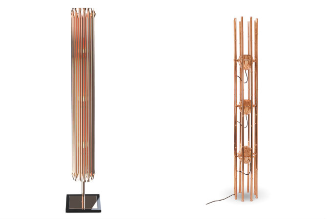 Copper Floor Lamps For A Living Room