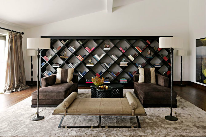 How Do The Best Interior Designers Use Lamps Kelly Hoppen Interiors fab bookcase and perfect symmetry Floor Lamps How Do The Best Interior Designers Use Floor Lamps? How Do The Best Interior Designers Use Floor Lamps Kelly Hoppen Interiors fab bookcase and perfect symmetry