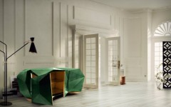 Use mid-century modern floor lamps beside a sideboard Featured
