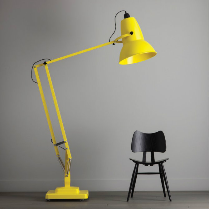 industrial modern floor lamps Yellow modern floor lamps for your home designs industrial