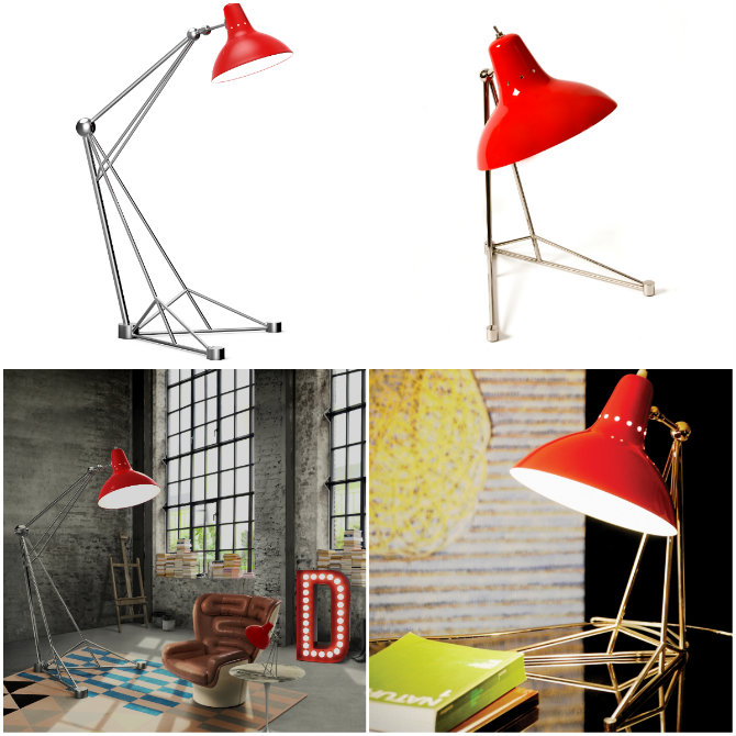Make a Pair standing Lamp with a Table Lamp diana floor lamp and desk lamp