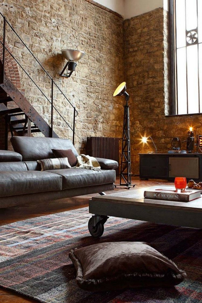 brick walls and floor lamps Industrial look - a great masculine space industrial design Industrial Design Icons: Floor lamps and brick walls brick walls and floor lamps Industrial look a great masculine space