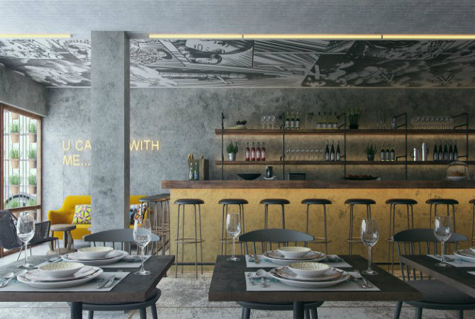 5 floor lamps inspirations from restaurant design projects