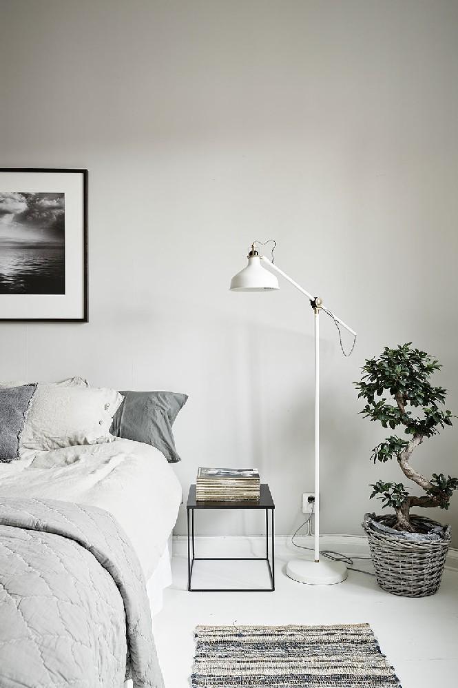 White floor bedroom