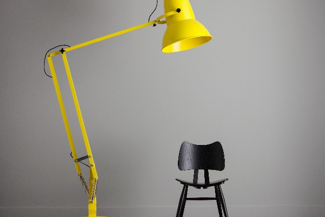 COLORFULFLOOR LAMPS FOR A HAPPY HOME DESIGN Anglepoise Giant 1227™ Floor Lamp in Citrus Yellow.
