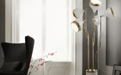 Mid-century Modern White and Golden Floor Lamp - Hanna from DelightFULL