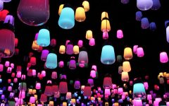 Teamlab created a forest of resonating lamps at maison et objet