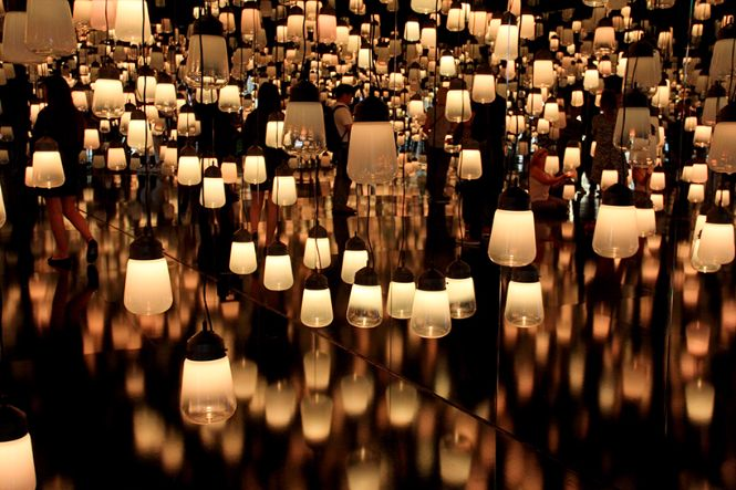 Teamlab created a forest of resonating lamps at maison et objet maison et objet Teamlab created a forest of resonating lamps at maison et objet Teamlab created a forest of resonating lamps at maison et objet 4