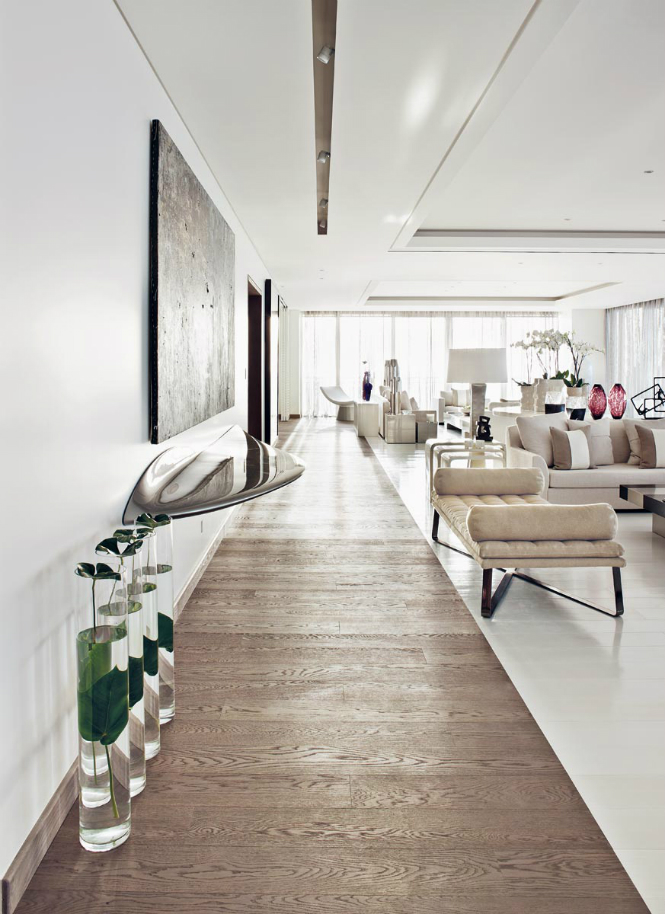 Kelly Hoppen\'s Wonderful Beirut Apartment featuring Modern Floor Lamps