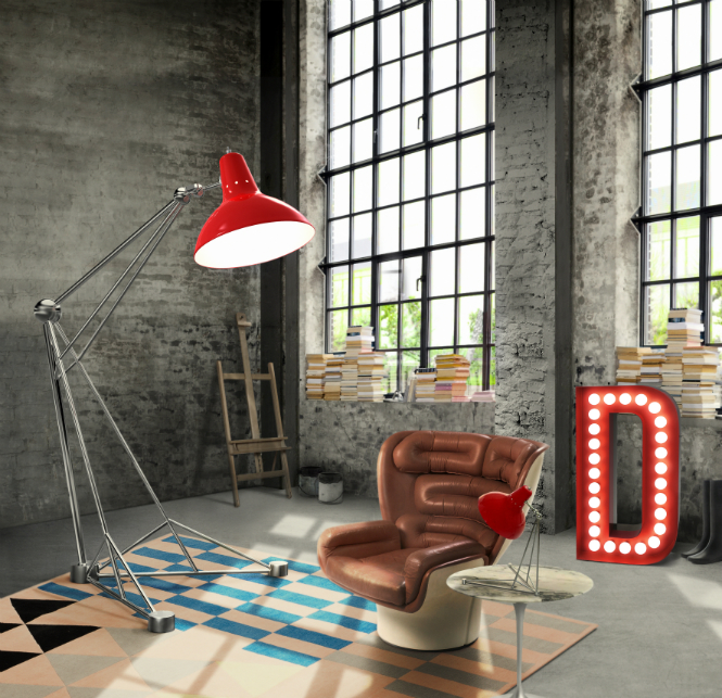 10 of the Most Edgy Standing Lamps to Use in Your Modern Home standing lamps 10 of the Edgiest Standing Lamps to Use in Your Modern Home delightfull diana floor giant colorful loft studio brass vintage lamp 01