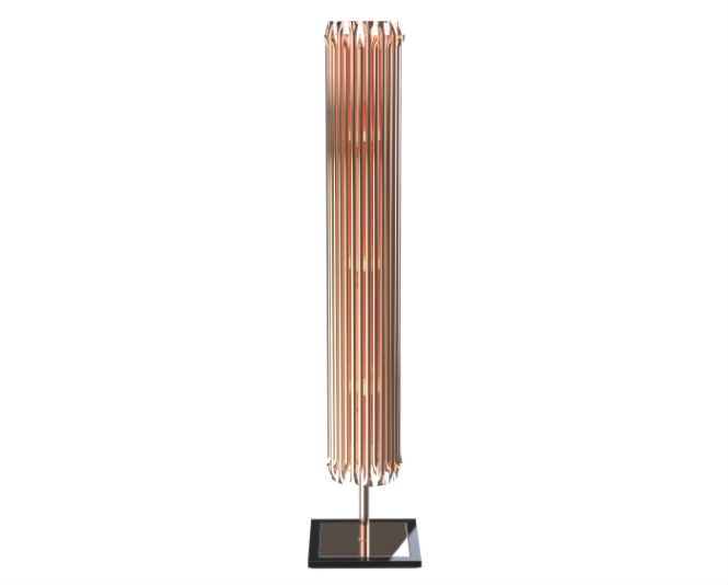 Some Amazing Floor Lamp Designs Using Copper floor lamp designs Some Amazing Floor Lamp Designs Using Copper delightfull matheny stilnovo classic modern geometric golden tubes floor lamp copper plated