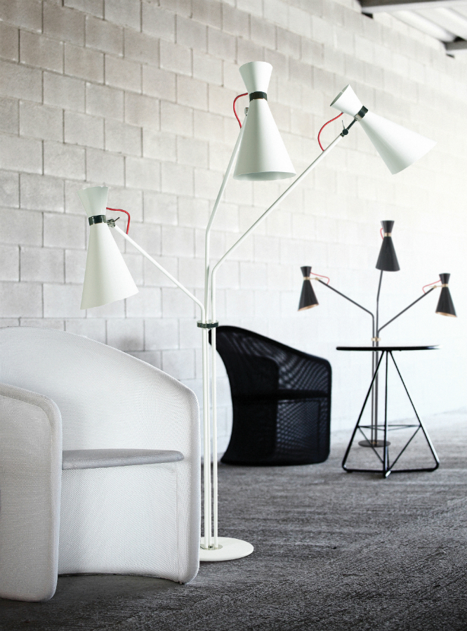 Black and White Standing Lamps to Give Your House a Retro Feeling black and white Black and White Standing Lamps to Give Your House a Retro Feeling delightfull simone 01