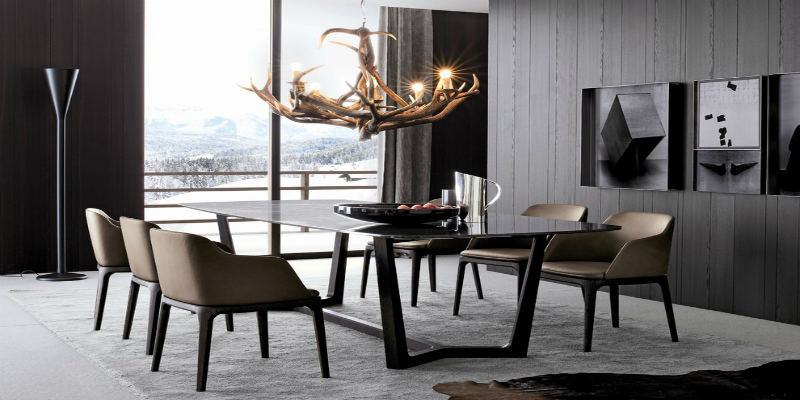 ideas on how to use modern floor lamps in your dining room. Black Bedroom Furniture Sets. Home Design Ideas