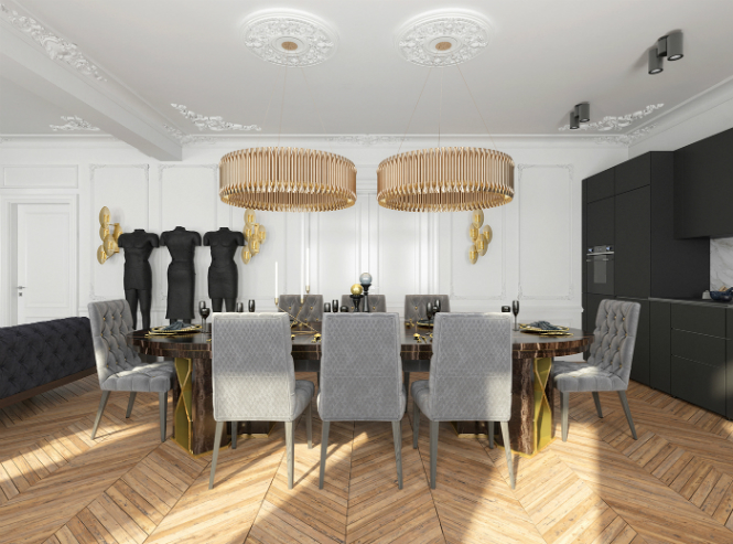Contemporary Apartment in Kiev with Modern Black Lamps black lamps Contemporary Apartment in Kiev with Modern Black Lamps Contemporary Apartment in Kiev with Modern Black Lamps 5