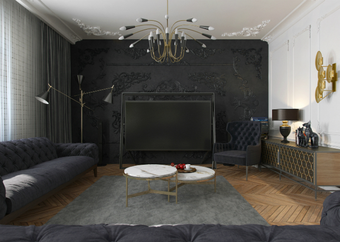Contemporary Apartment in Kiev with Modern Black Lamps black lamps Contemporary Apartment in Kiev with Modern Black Lamps Contemporary Apartment in Kiev with Modern Black Lamps 6
