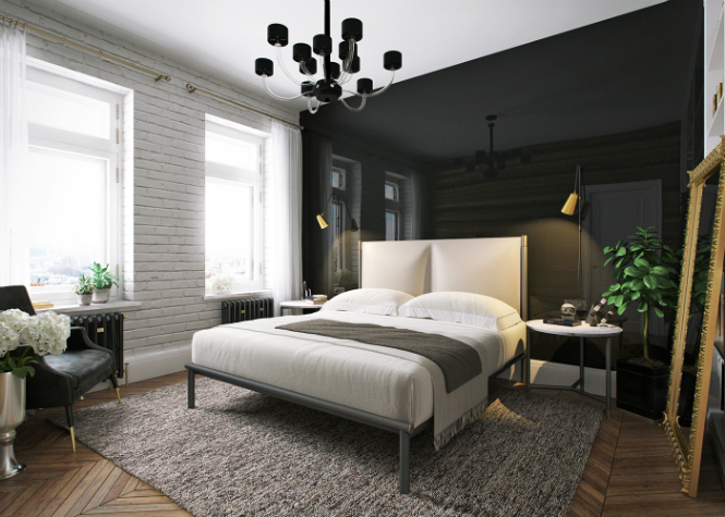 Contemporary Apartment in Kiev with Modern Black Lamps black lamps Contemporary Apartment in Kiev with Modern Black Lamps Contemporary Apartment in Kiev with Modern Black Lamps 8