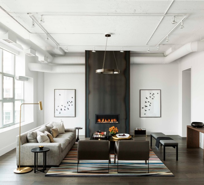 Toronto Industrial Loft Boasts Shiny Lighting Designs