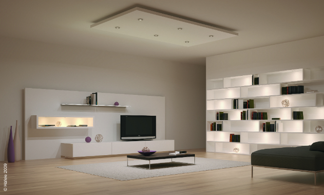 Why You Should Switch to LED Light Right Now led light Why You Should Switch to LED Light Right Now ligthing led light in modern elegant living room with bookshelving also gray carpet and black table above it home lighting ideas for modern home or office interior design