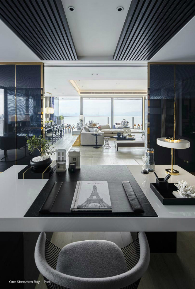 paris kelly hoppen One Shenzhen Bay Luxury Homes with Modern Floor Lamps by Kelly Hoppen paris