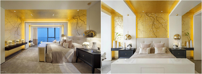 paris3 kelly hoppen One Shenzhen Bay Luxury Homes with Modern Floor Lamps by Kelly Hoppen paris3