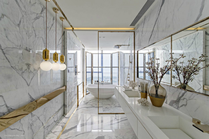 paris5 kelly hoppen One Shenzhen Bay Luxury Homes with Modern Floor Lamps by Kelly Hoppen paris5