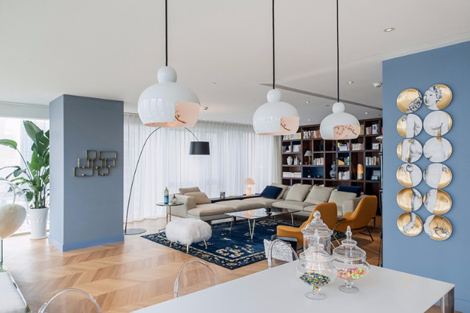 Beijing 350sqm Apartment with Classic Modern Floor Lamps modern floor lamps Beijing 350sqm Apartment with Classic Modern Floor Lamps Beijing 350sqm Apartment with Classic Modern Floor Lamps 1