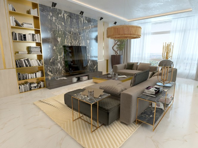 Marble and Golden Living Room Luxury Lighting Designs luxury lighting Marble and Golden Living Room Luxury Lighting Designs Marble and Golden Living Room Luxury Lighting Designs 1