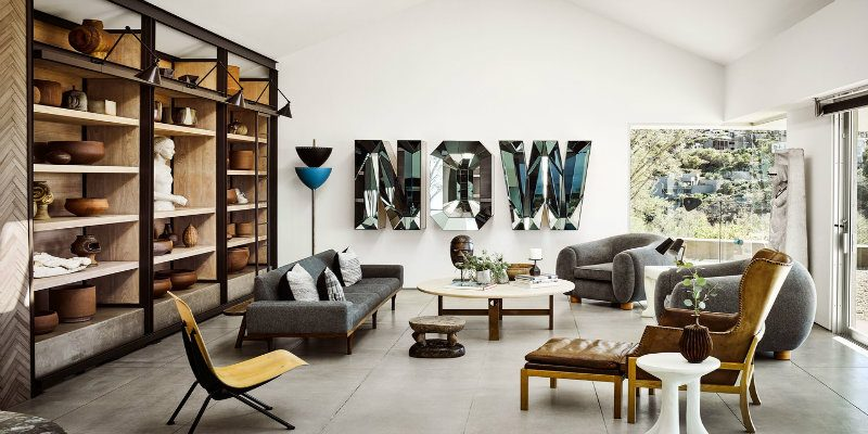 Ryan Murphy's Beach House with Mid-Century Lighting Designs