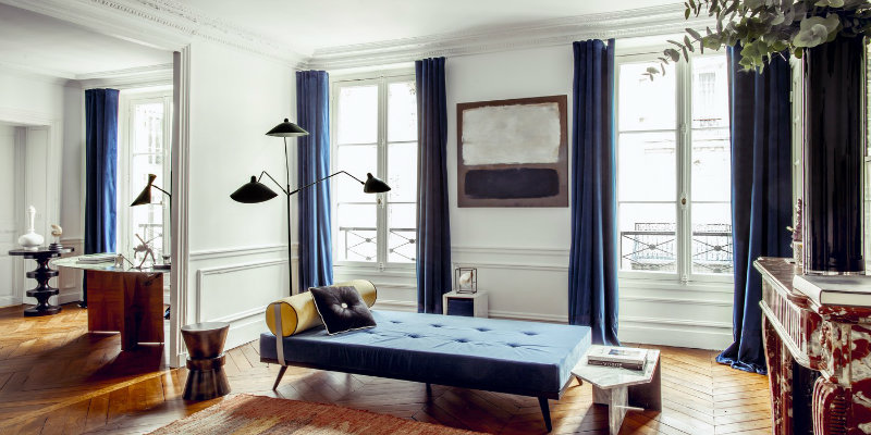 Stunning Lighting Designs Shine in Hilary Swank's Paris Apartment feat
