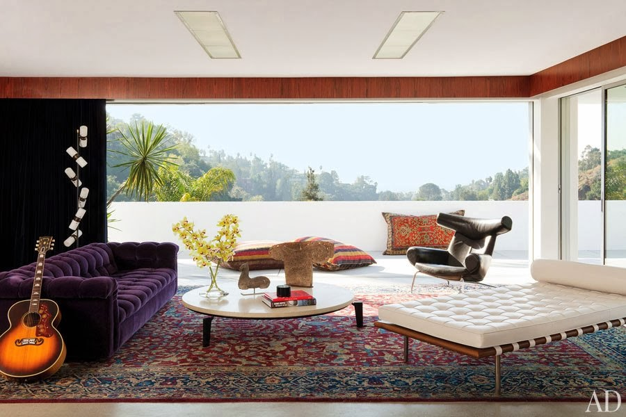 Adam Levine's Hollywood Hills Home with Mid-Century Floor Lamps 1 mid-century floor lamp Adam Levine's Hollywood Hills Home with Mid-Century Floor Lamps Adam Levines Hollywood Hills Home with Mid Century Floor Lamps