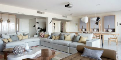 Apartment in Copacabana Filled with Modern Floor Lamps feat