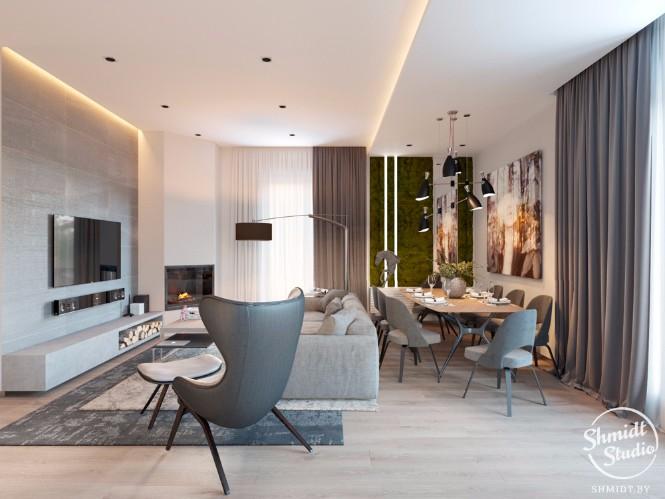 Open plan living room designs