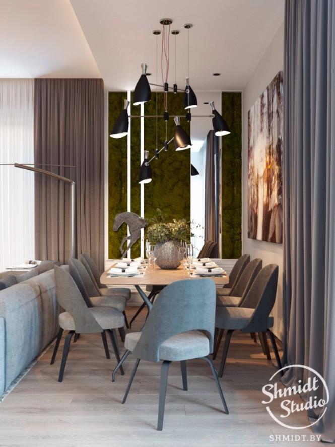 Modern Open Living Room with Stunning Lighting in Minsk (7)