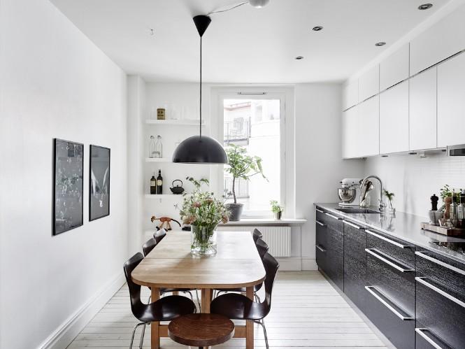Swedish Apartment Shining with Scandinavian Floor Lamps