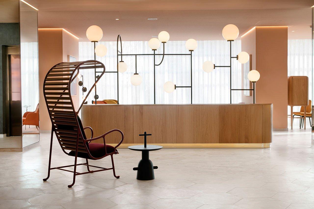 Barceló Torre de Madrid with Mid-Century Floor Lamps 1