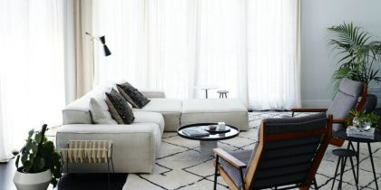 Mid-Century Floor Lamps Brighten Up Open Plan Living Room FEAT