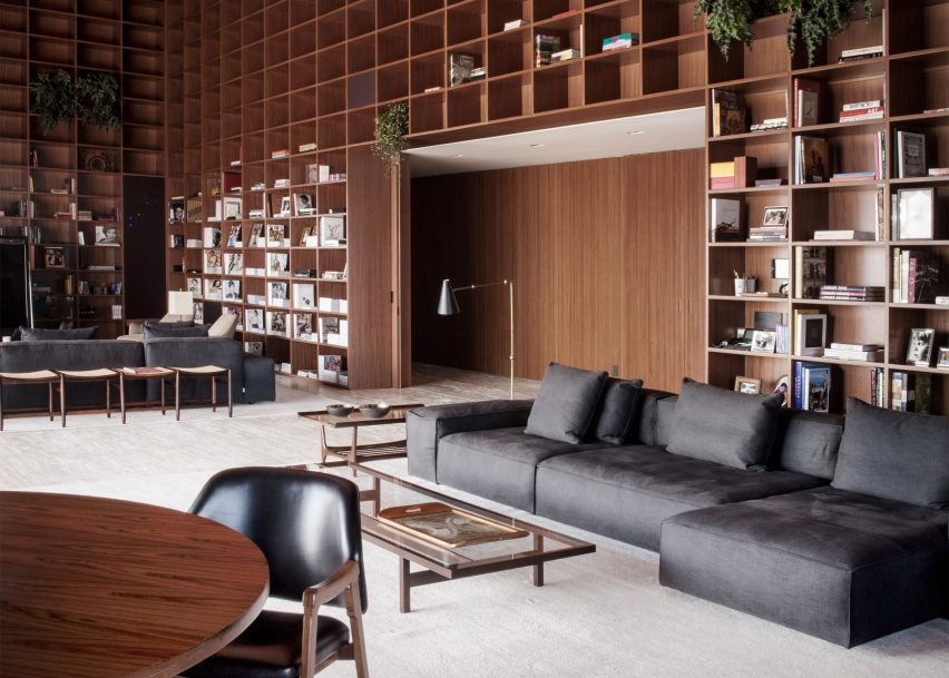 São Paulo Penthouse with Modern Floor Lamps and Mid-Century Furniture 1