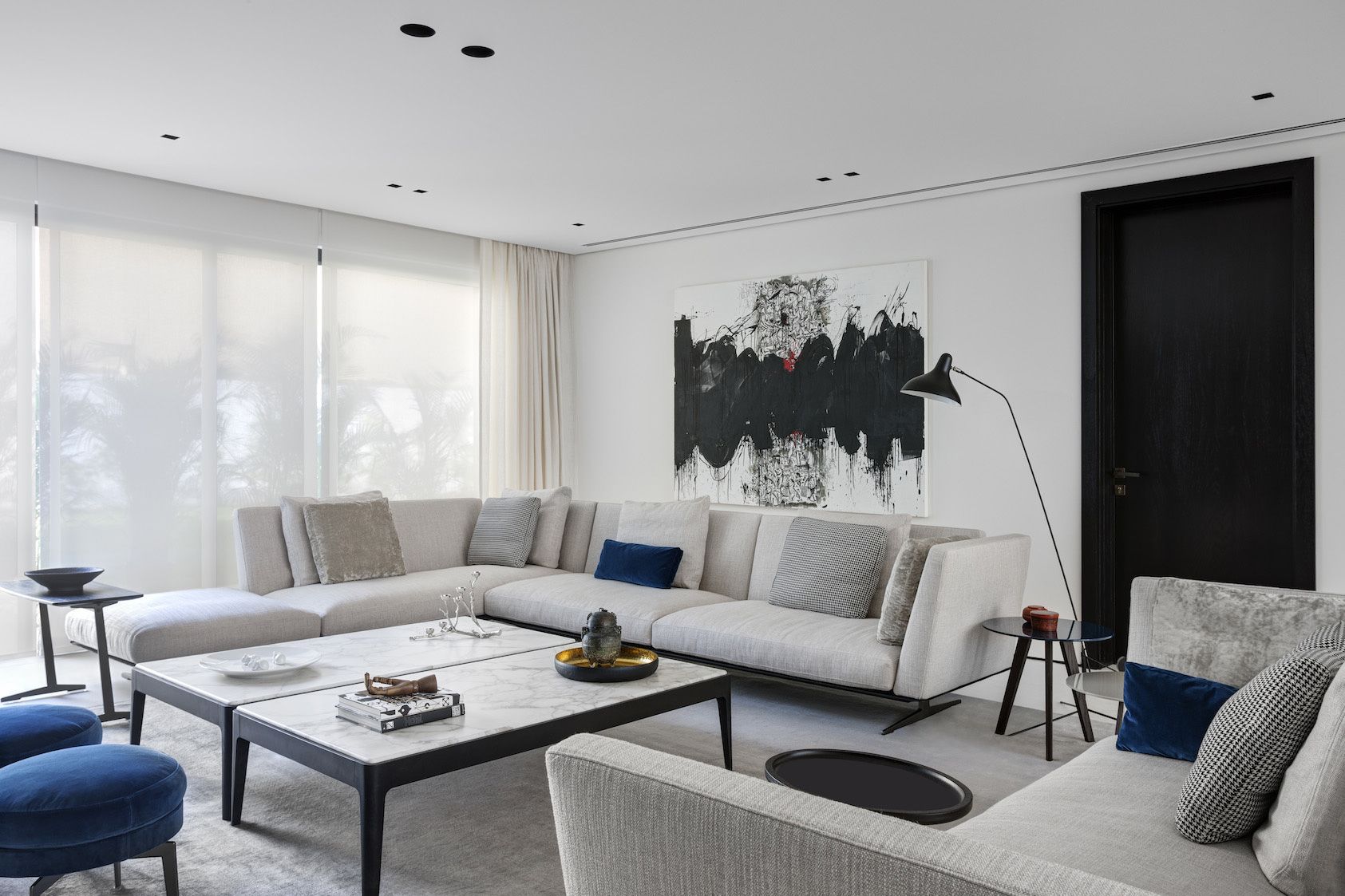 The Jumeirah Residence Shines with Mid-Century Floor Lamps