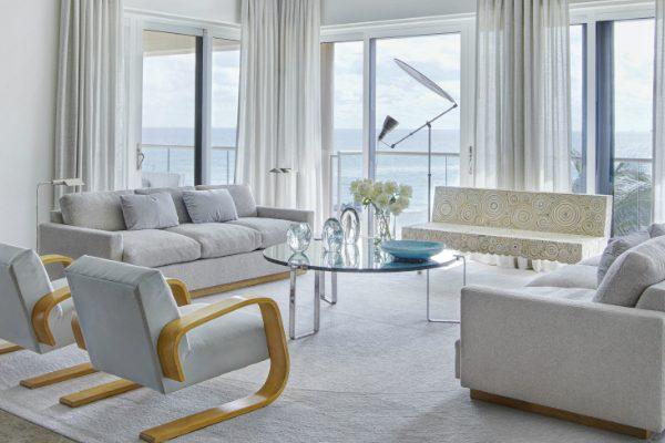 A Palm Beach House with a Mid-Century Floor Lamp You'll Love