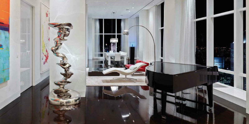 Dazzling Lighting Designs Brighten Up Trump World Tower Apartment FEAT
