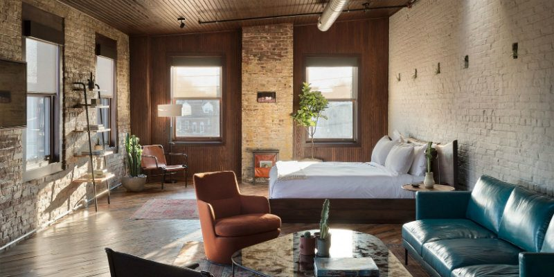 Industrial Restaurant & Hotel Filled with Modern Floor Lamps FEAT
