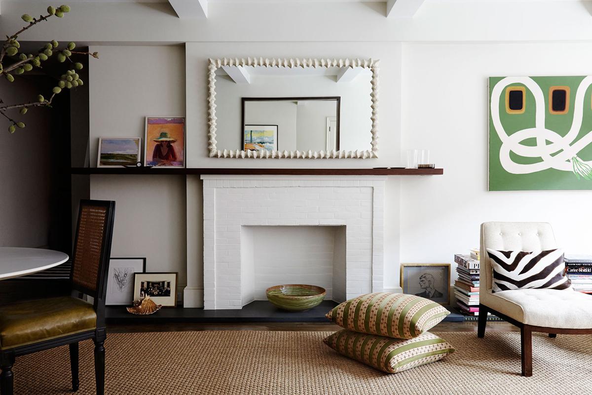 Unique Lighting Designs Shine in Mid-Century Living Room